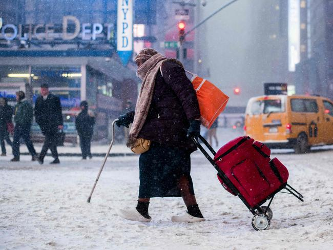 New York was hit by a massive winter storm. Picture: AFP/Jewel Samad