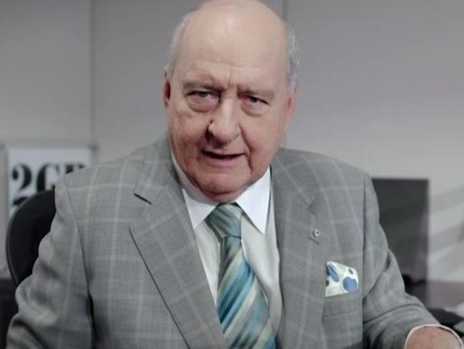 2GB presenter Alan Jones appears in an ad for Lock the Gate.