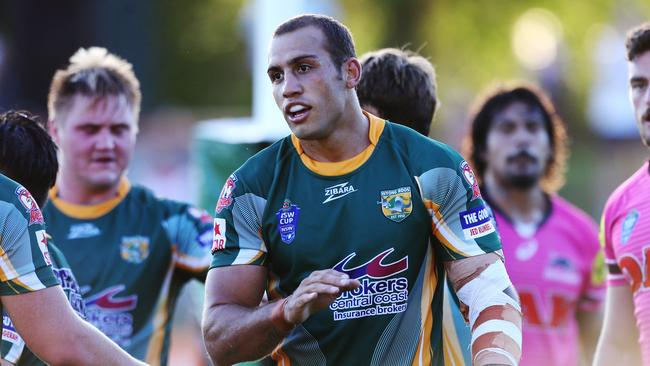 Blake Ferguson after crossing for his second try.