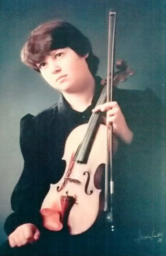 Georgie and the violin she was practising on when Aitchison raped her, meaning she can no longer pick it up.