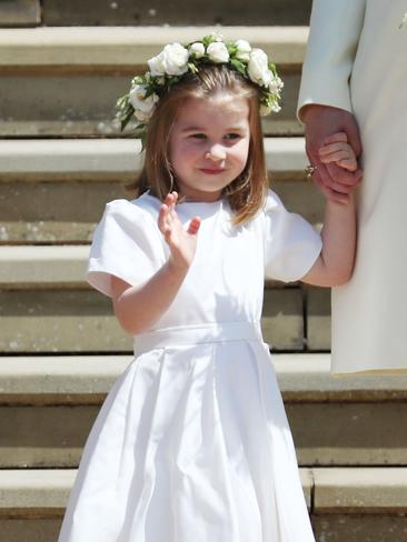 Another royal wave. Picture: AFP