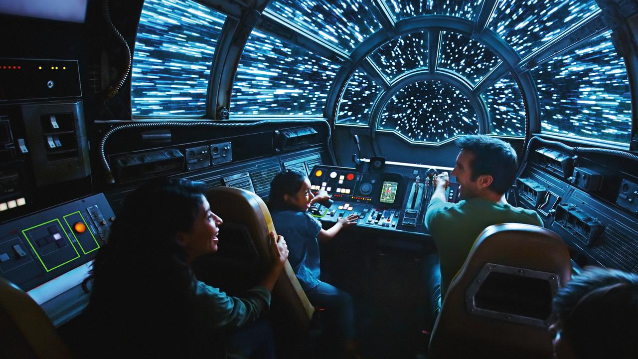 The park will give guests the opportunity to ride inside the Millennium Falcon Picture: Disney Parks.