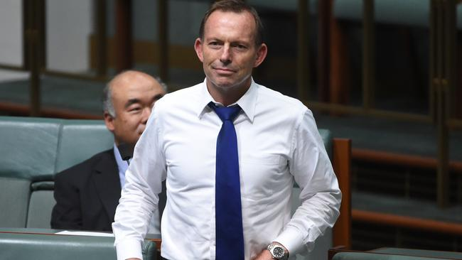 Former prime minister Tony Abbott has made his voice loud and clear. Picture: AAP