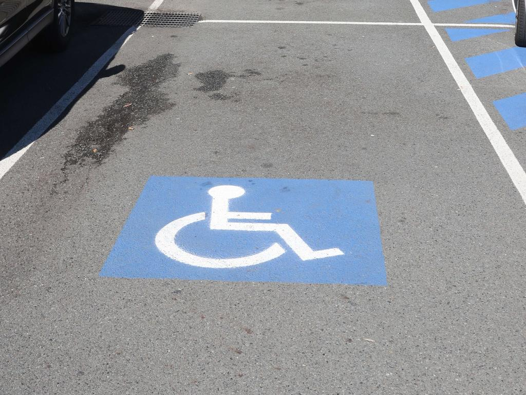 Queensland is cracking down on drivers who illegally park in disabled parking spots. Picture: Richard Gosling