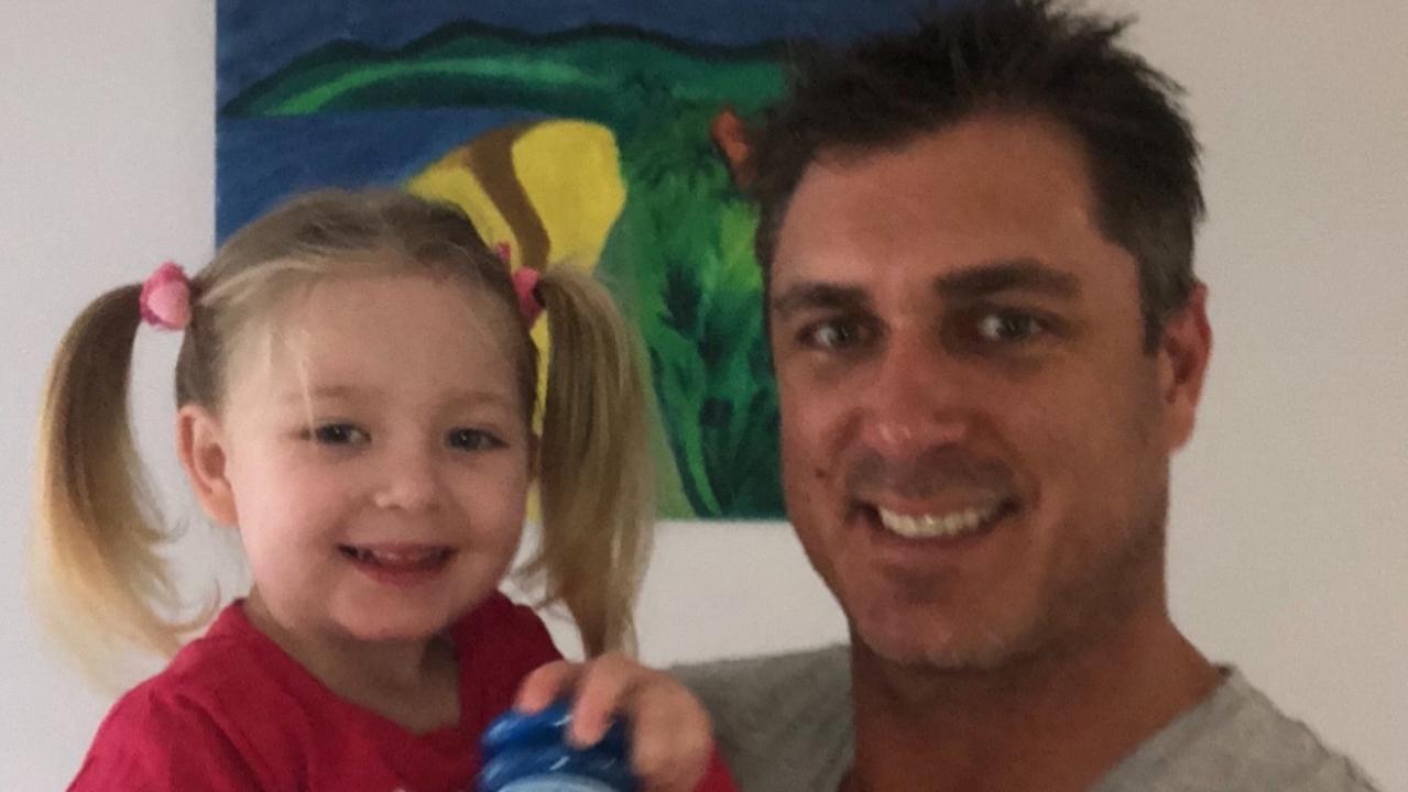 Nathan Katterns with his daughter Iyla.