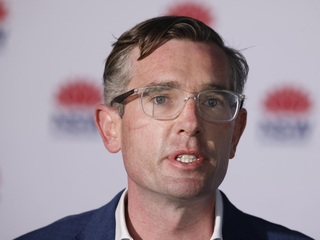 NSW Treasurer Dominic Perrottet said that around 460,000 businesses with a turnover reduction of 30 per cent will now be eligible for support payments of up to $100,000 per week. Picture: Jenny Evans/Getty Images.