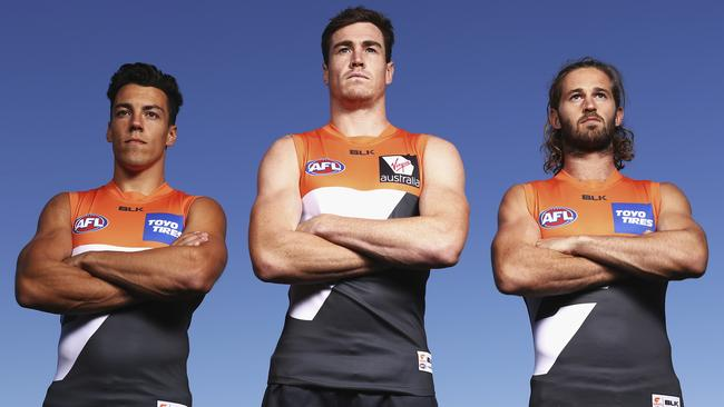 Dylan Shiel, Jeremy Cameron and Callan Ward are ready for the Giants' maiden finals appearance.