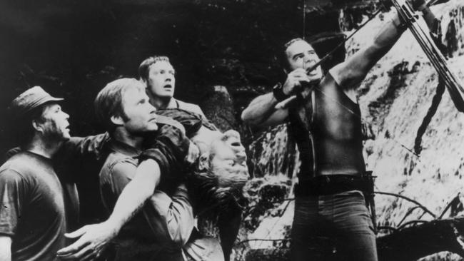 Jon Voight (centre) and Bert Reynolds (right) in Deliverance.