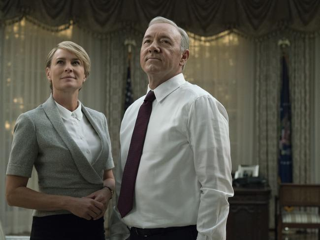 Robin Wright's Claire Underwood will be the show's focus after Kevin Spacey's exit. Picture: Netflix