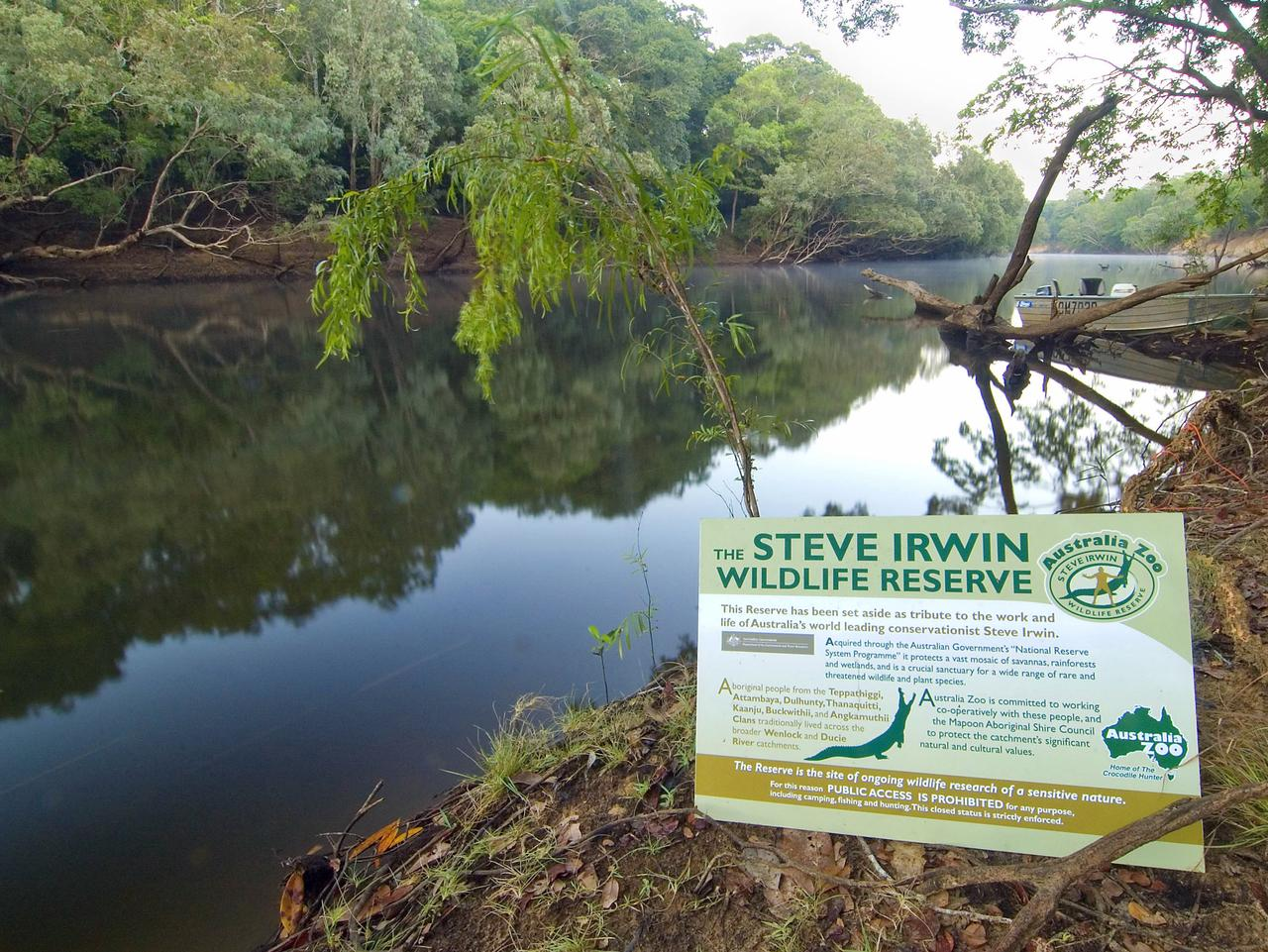 The Steve Irwin Wildlife Reserve on the Wenlock River, Cape York. The late Steve Irwin referred to the Wenlock area as �the most beautiful place on Earth� � which is why the Federal Government helped Australia Zoo establish the Steve Irwin Wildlife Reserve in the area in 2007. With the richest diversity of freshwater fish species in Australia, lush gallery rainforest on the river banks, freshwater springs and Queensland�s best Saltwater Crocodile breeding habitats, the Wenlock is one of Australia�s healthiest and most spectacular river systems. All Part 3 photos to be credited �Glenn Walker�