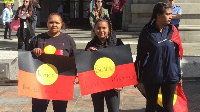 Protesters held a rally in Perth on Thursday, September 1, following the death of 14-year-old Elijah Doughty. Picture: AAP Image/Gregory Roberts