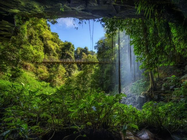 DORRIGO Visit this World Heritage-listed rainforest, just an hour from Coffs Harbour, to see landscape like never before. Embark on lush waterfall walks, like the Crystal Falls pictured, cook up some snags in the scenic barbecue areas, or blend into nature while birdwatching. Stand in a rocky cavern behind a waterfall and, as the saying goes, switch off and let the sound of water fill your ears. For accommodation, stay in nearby Dorrigo or in big smoke Coffs Harbour.