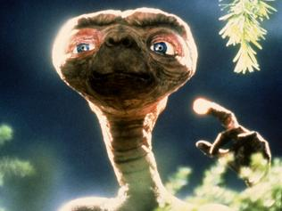 "1982. Scene from film ""ET: the extraterrestrial"".  alien"