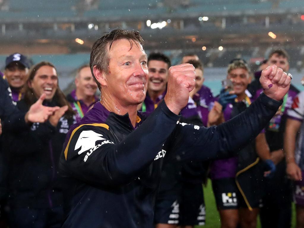 Bellamy has won three premierships as Storm coach.