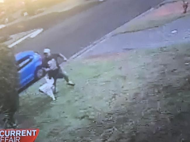 CCTV footage captures Wayne Greenhalgh running from his knife-wielding attacker.