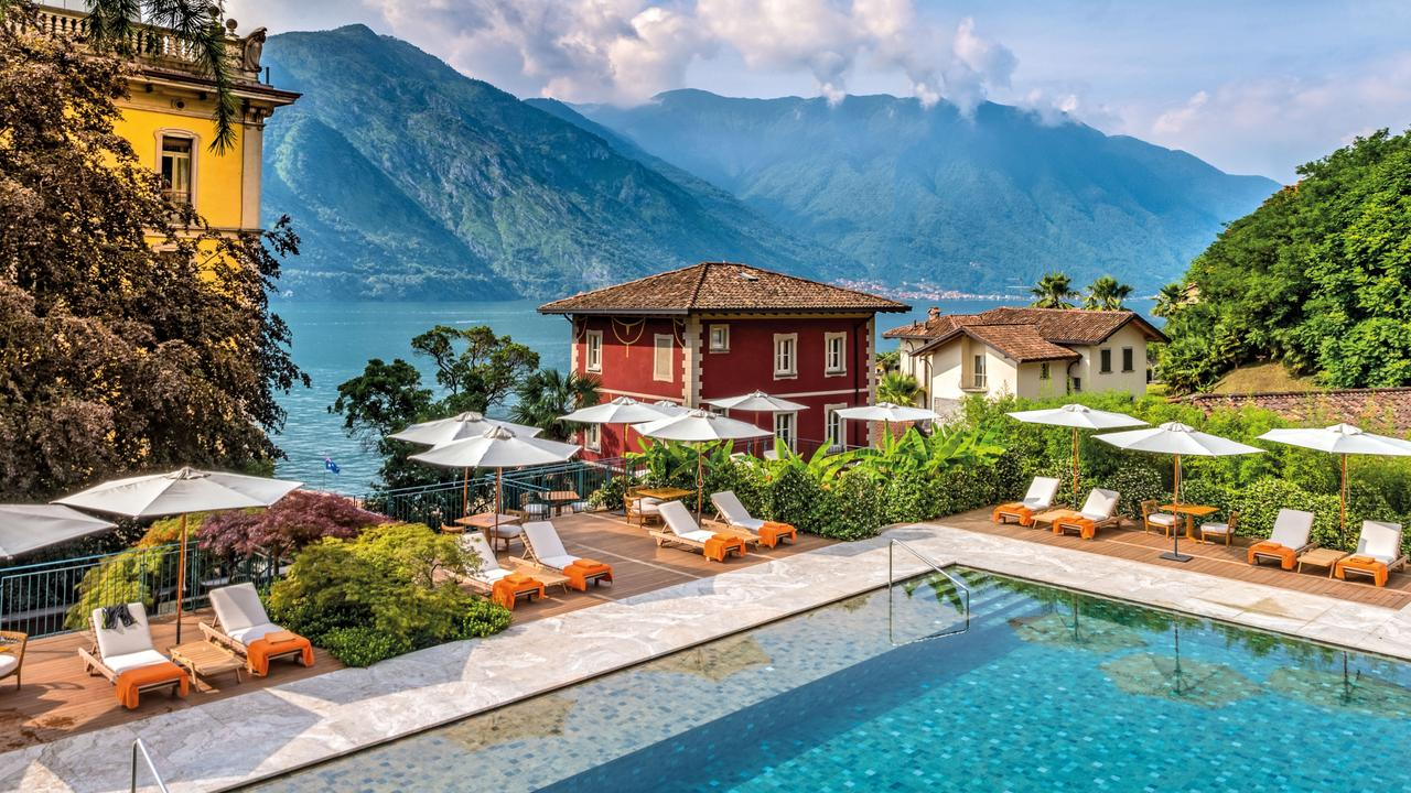 Swim in the gardens of the Grand Hotel Tremezzo, Lake Como.