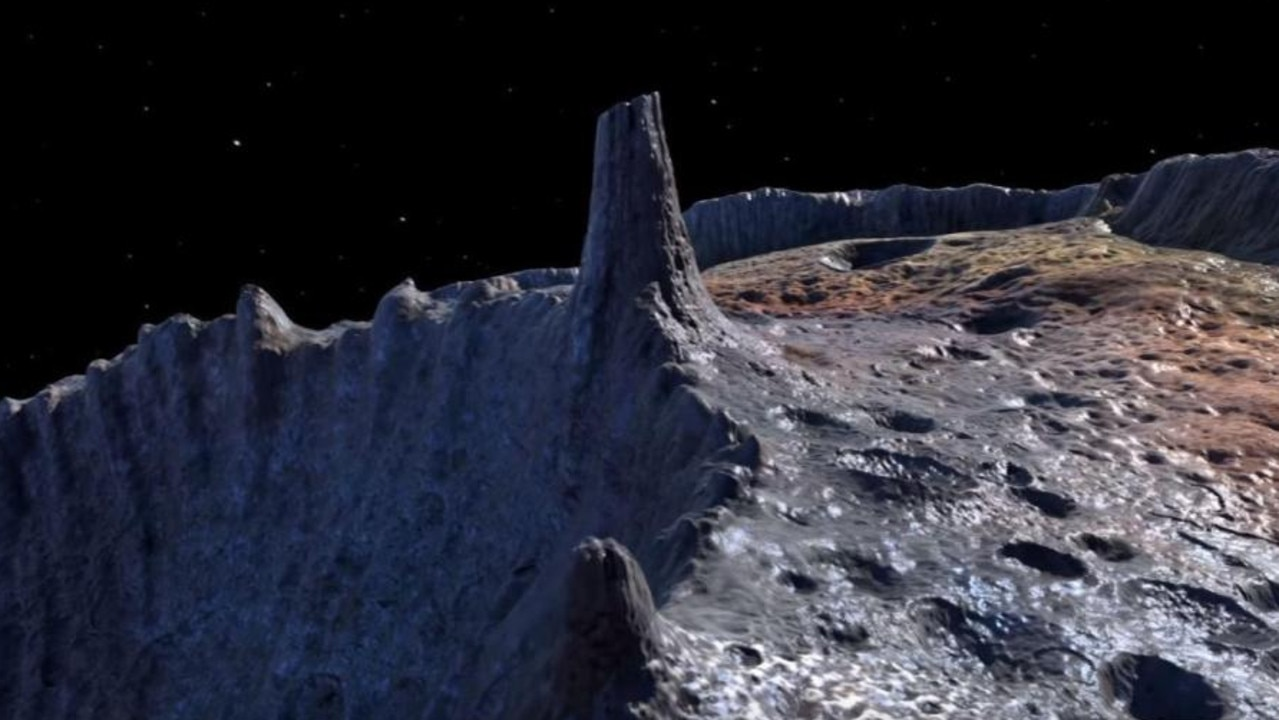 An artist's impression of the asteroid Psyche's surface. Picture: NASA