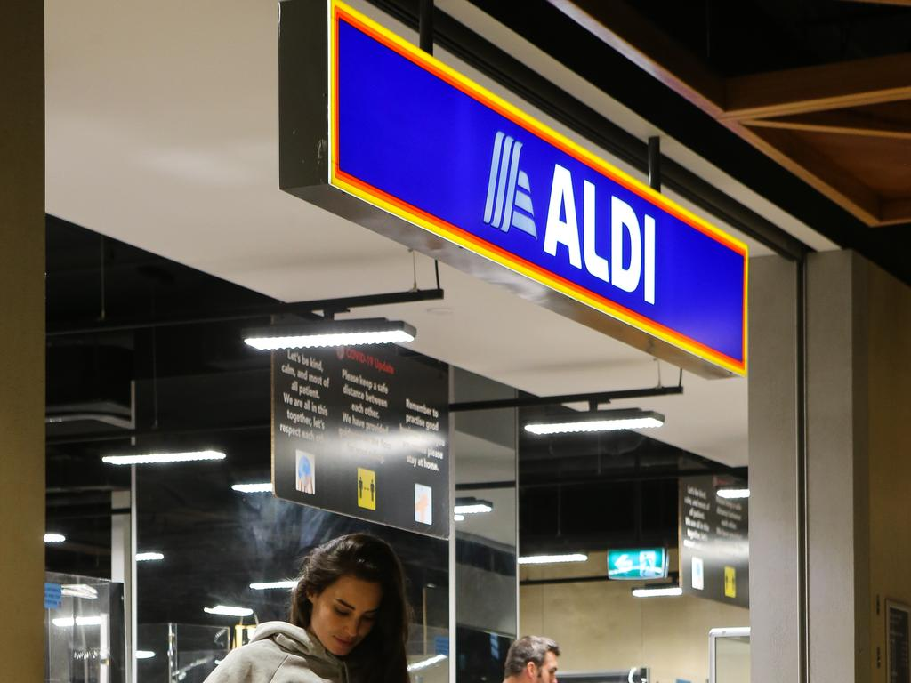 Retailer Aldi also made the top five when it came to trustworthiness. Picture: NCA NewsWire / Gaye Gerard
