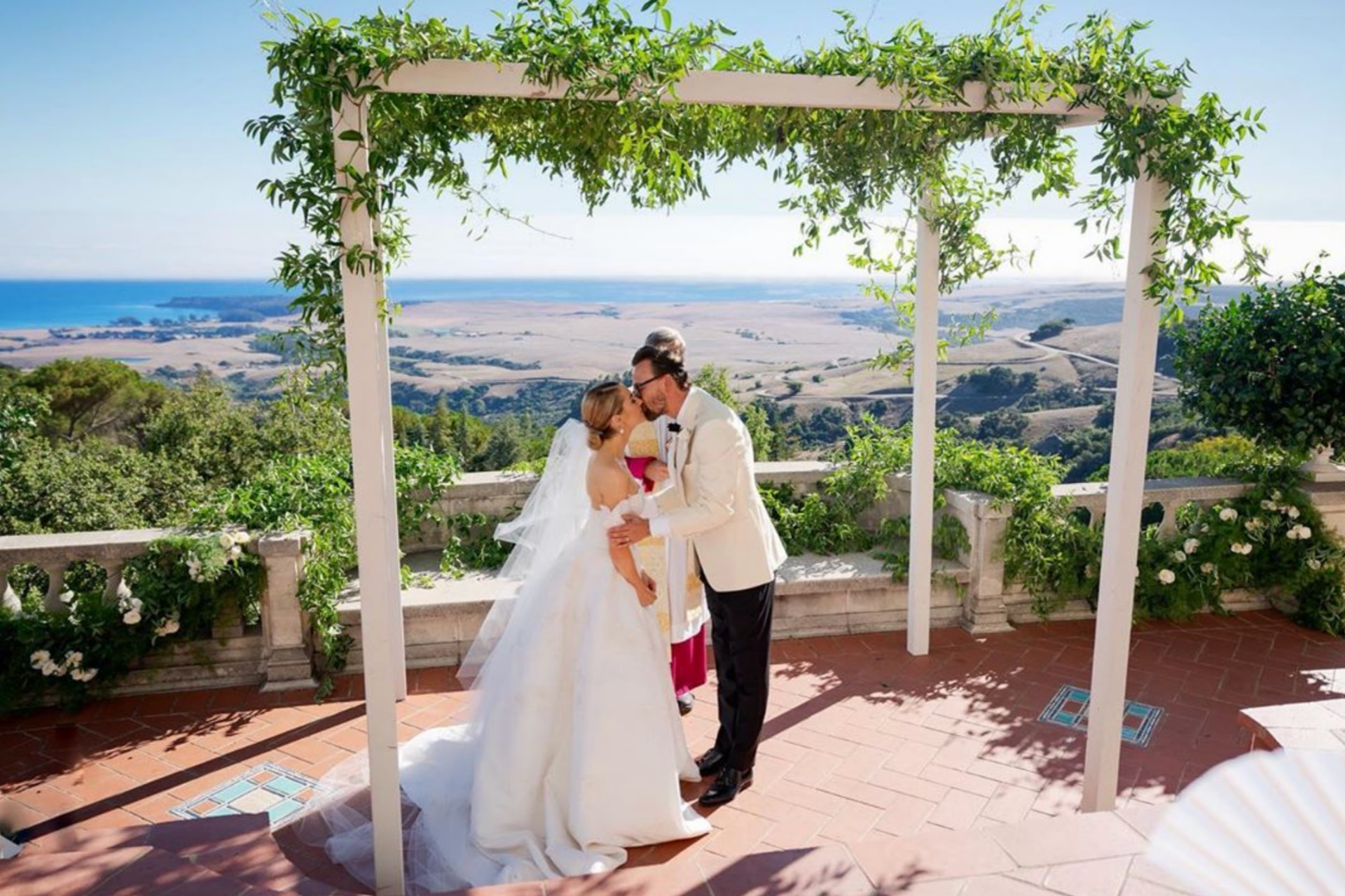 American heiress Amanda Hearst tied the knot in fairytale style at Hearst Castle