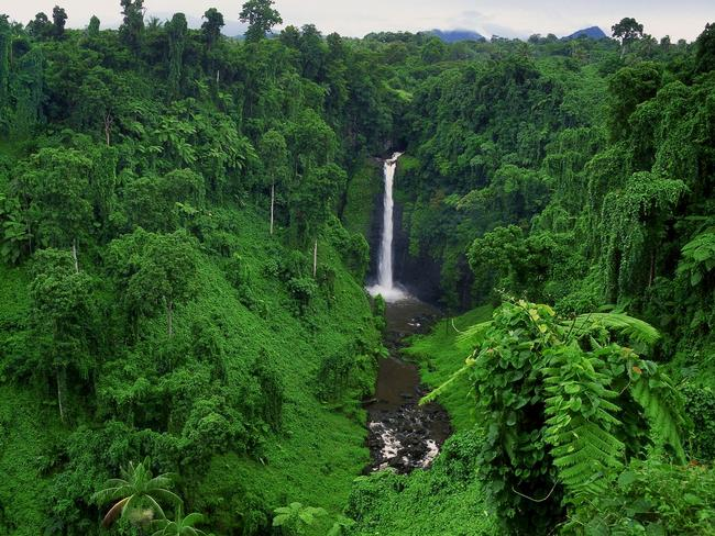 SAUNIATU WATERFALL, SAMOA There's no shortage of magical waterfalls in Samoa, but Sauniatu is one of the must-sees. The glistening water is surrounded by a lush green jungle, perfect for its isolation and relaxation. The track, fairly unknown to the public, is relatively unknown so you may be lucky enough to have it all to yourself. Picture: South Pacific Tourism Organization