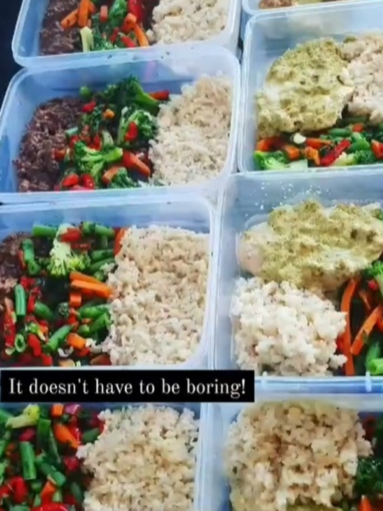 She said for her personally, meal prepping was key to her consistency. Picture: Instagram/sarahann_fitjourney