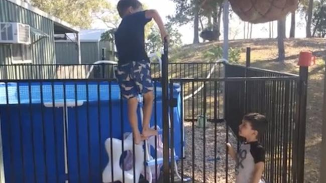 Siblings out smart pool safety gate