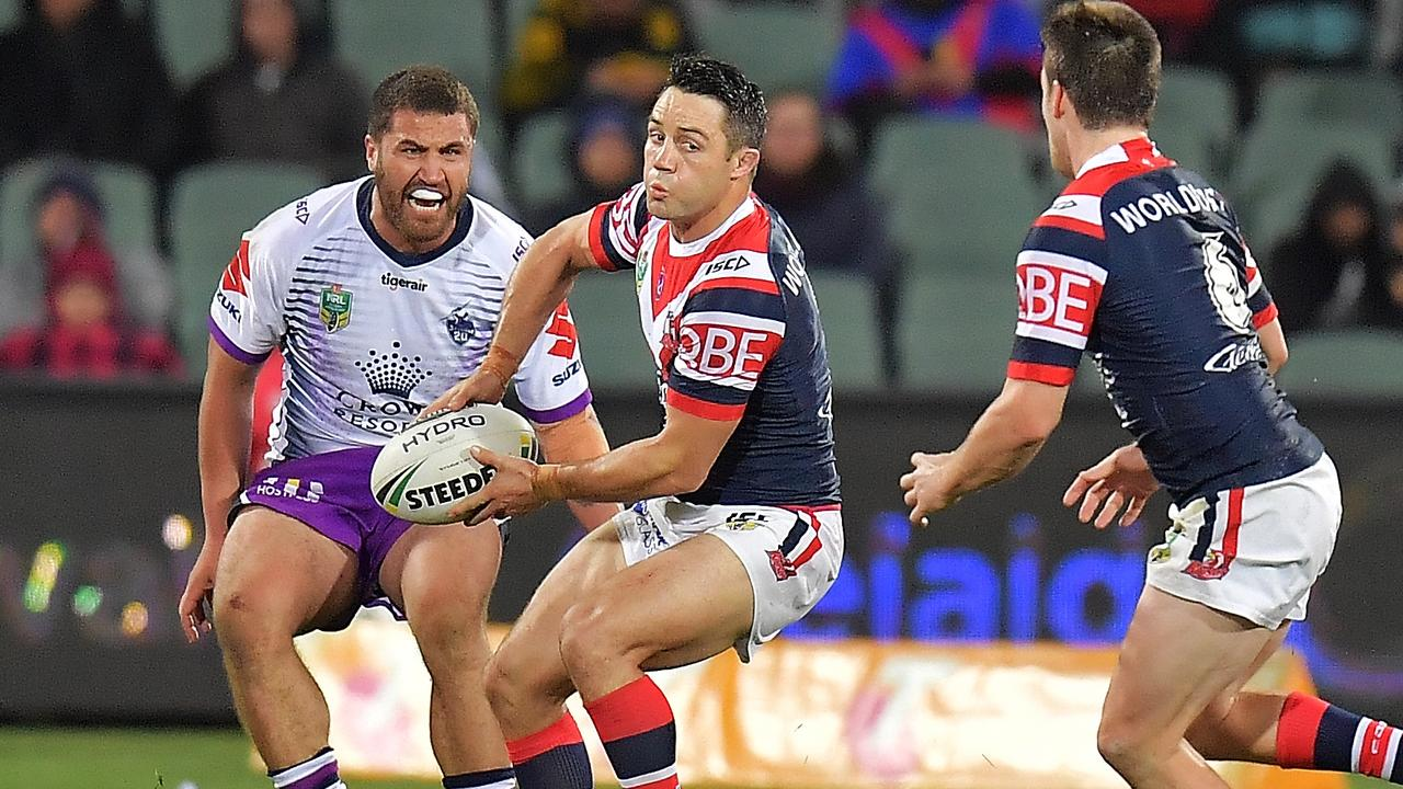 Cooper Cronk could return to AAMI Park to haunt his former club. (Photo by Daniel Kalisz/Getty Images)