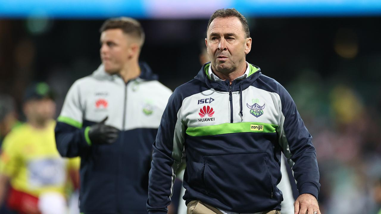 Raiders coach Ricky Stuart isn't happy (Photo by Cameron Spencer/Getty Images)