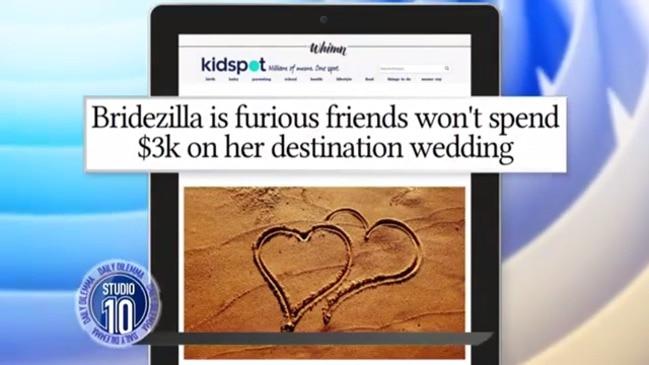 DAILY DILEMMA: Have destination weddings gone too far?