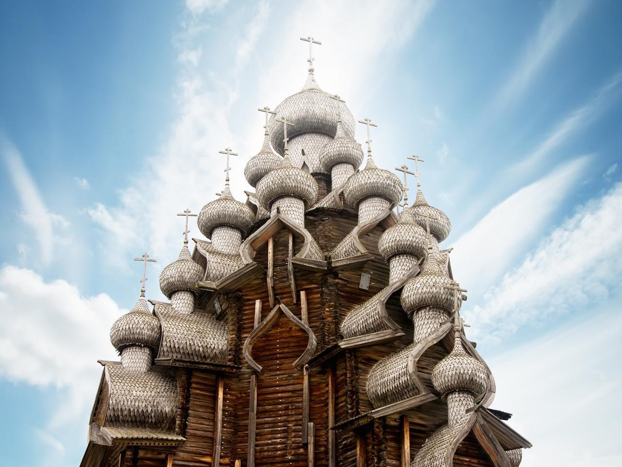 Transfiguration church in Kizhi, russia
