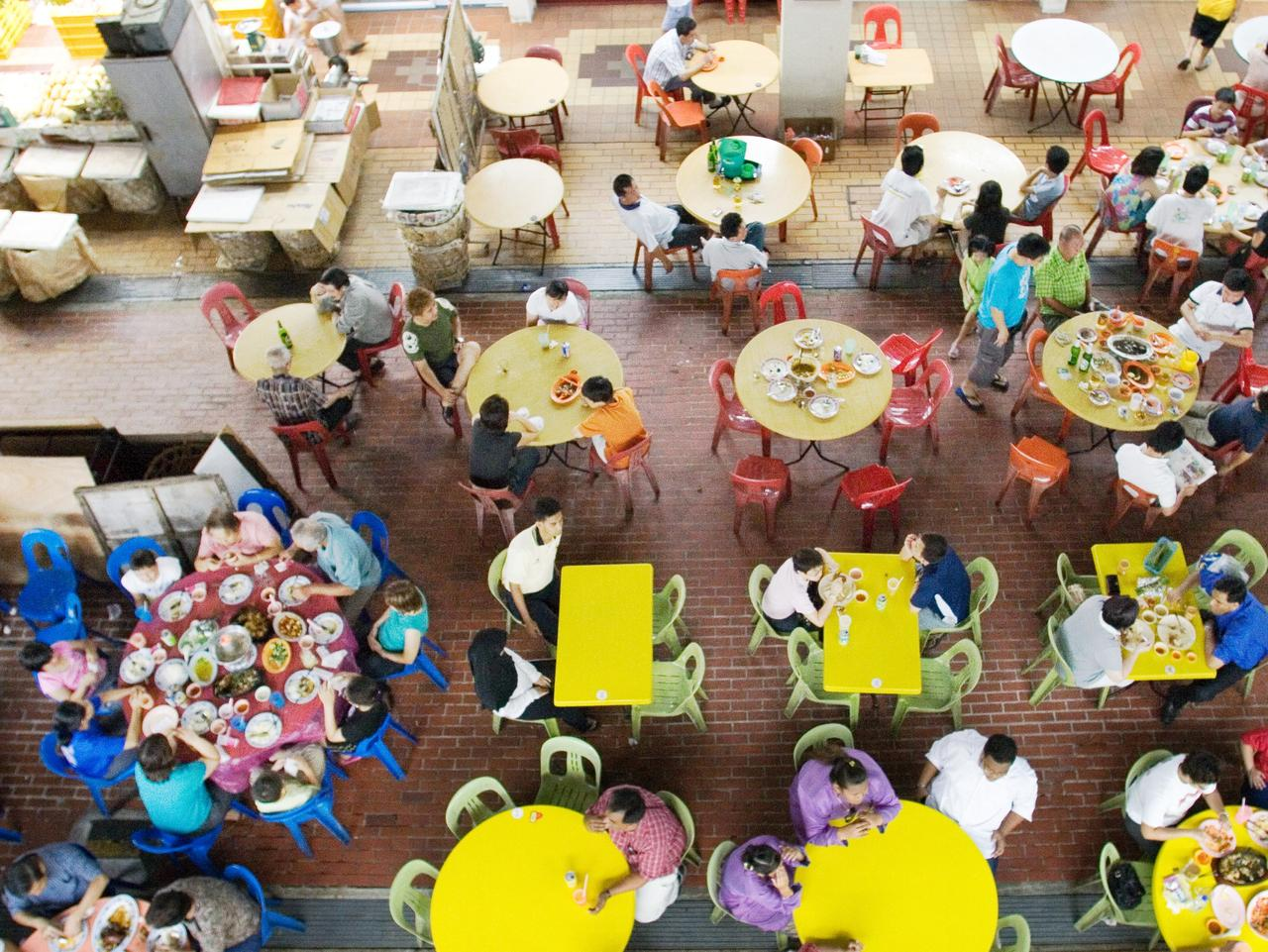 Changi Village, Singapore. Food hall. Picture: Singapore Tourism Board Sunday Escape FAQ