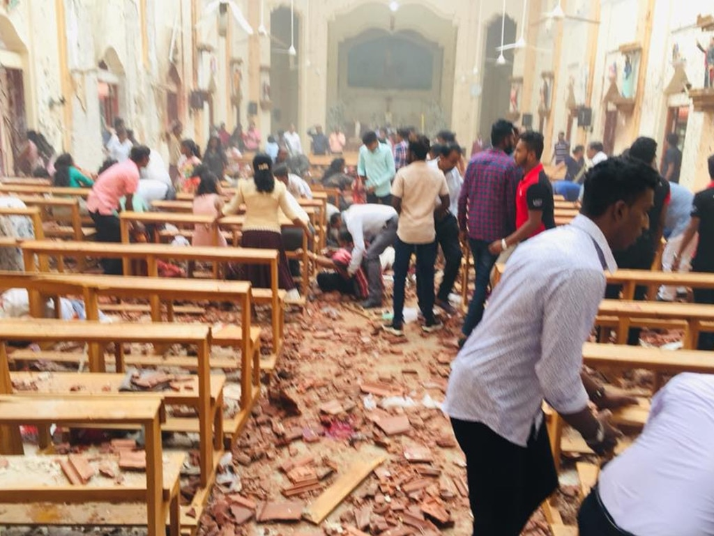 Explosions hit Sri Lankan churches and hotels. Picture: Facebook.