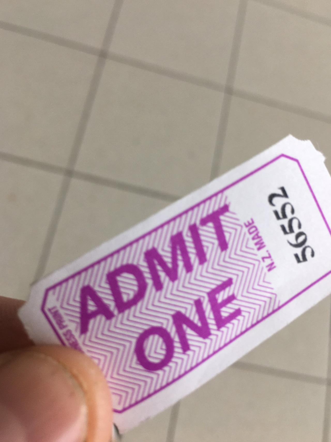 One ticket. Picture: Twitter / @truthsetufree17