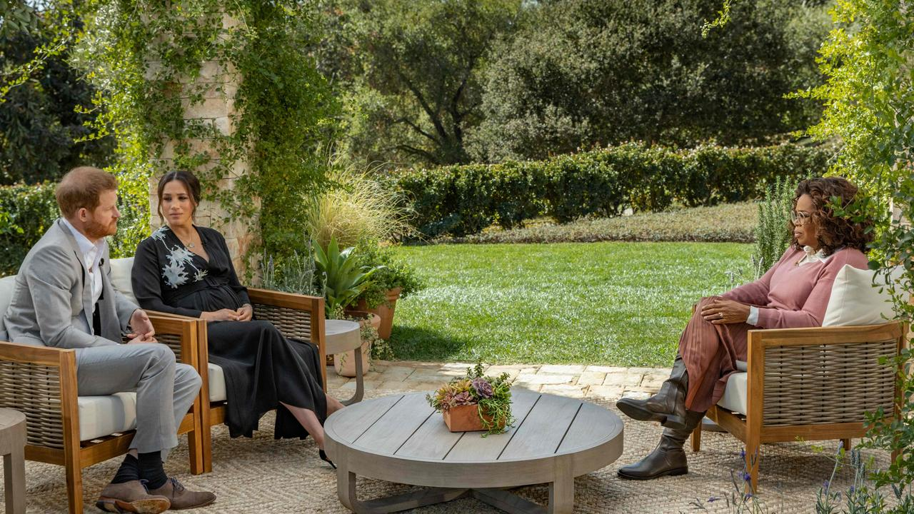 Harry and Meghan's Oprah interview was more explosive than imagined. Picture: Joe Pugliese/Harpo Productions/AFP