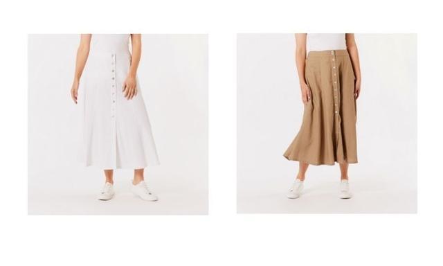 kmart linen skirt