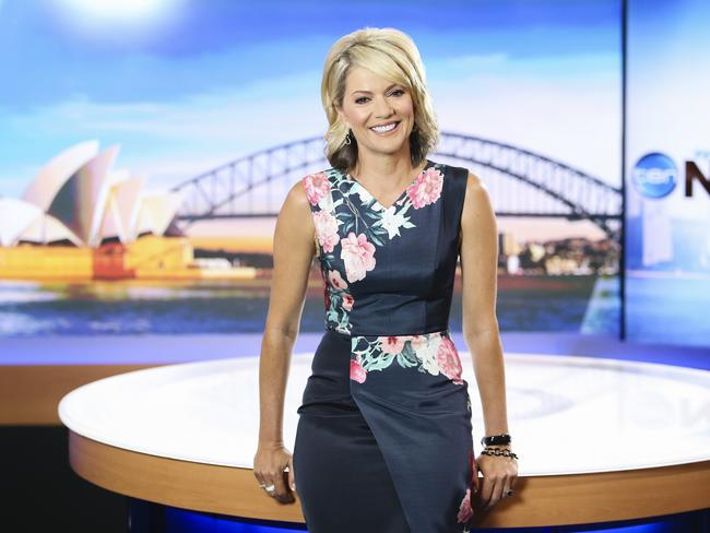 Sandra Sully at Ten's Pyrmont Studios yesterday to mark 25 years at Ten. Picture: Justin Lloyd