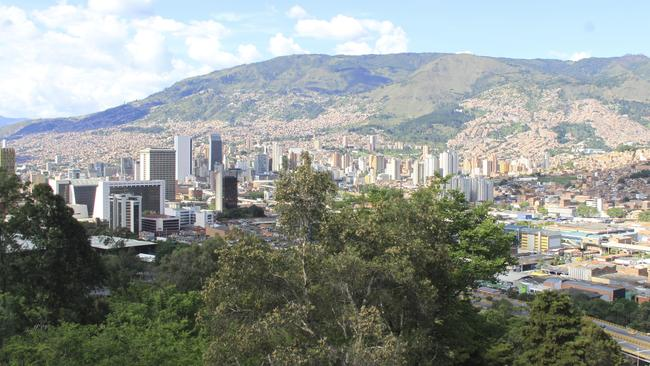 Dangerous city ... A view of Medellin. Picture: Anne Fussell