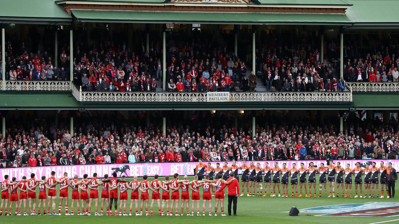 The national anthem is performed at many big Australian sporting events including the AFL finals. Picture: Getty Images