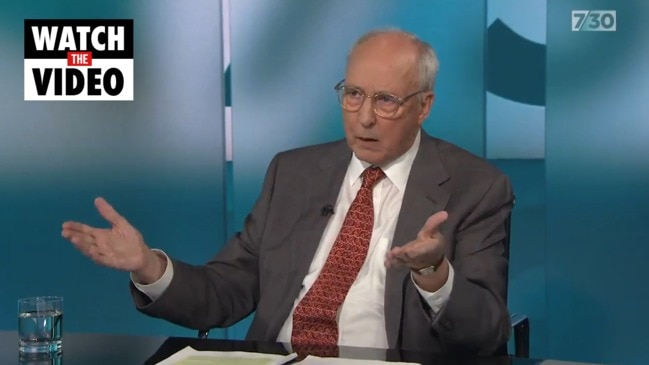 Paul Keating on the prospect of the super guarantee remaining at 9.5% (ABC 7.30)