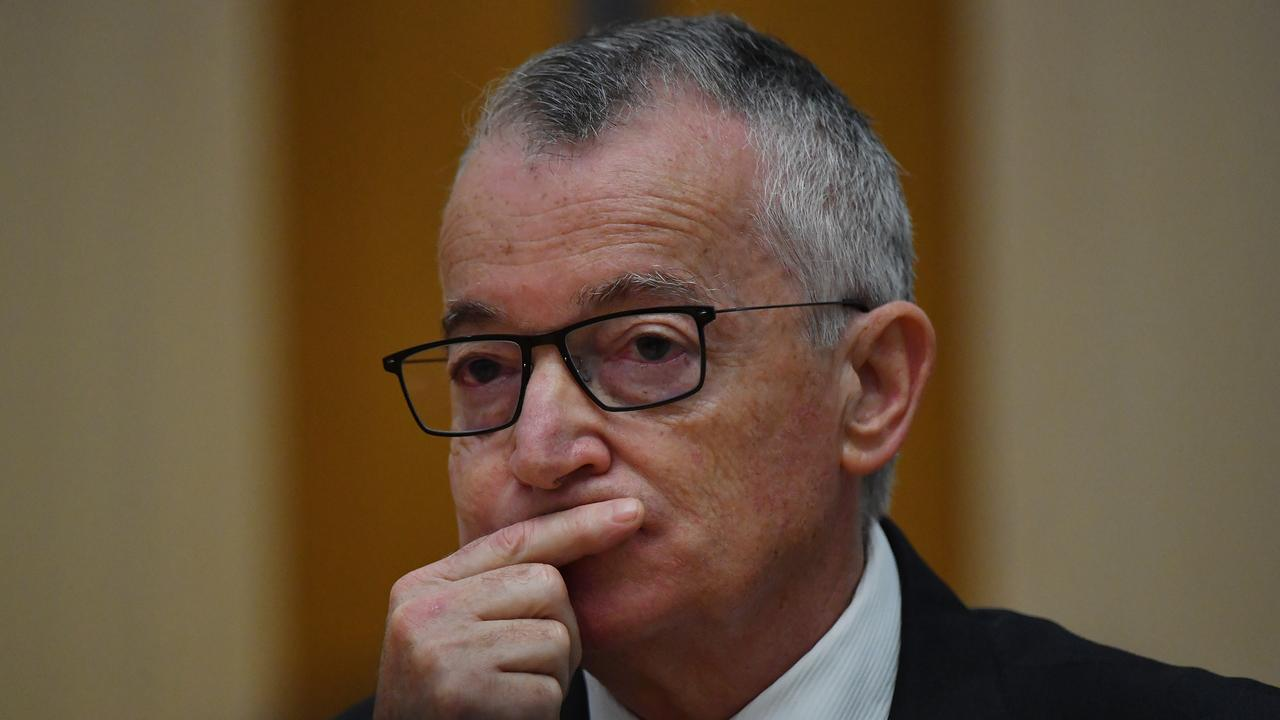 Chairman of Australia Post Lucio Di Bartolomeo during Environment and Communications Legislation Committee at Parliament House on March 23, 2021 in Canberra, Australia. (Photo by Sam Mooy/Getty Images)