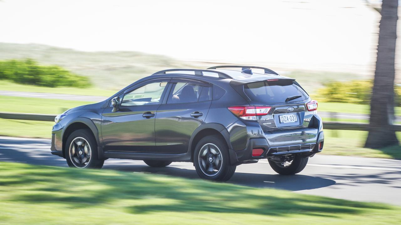 The XV feels solid and stable on the road.