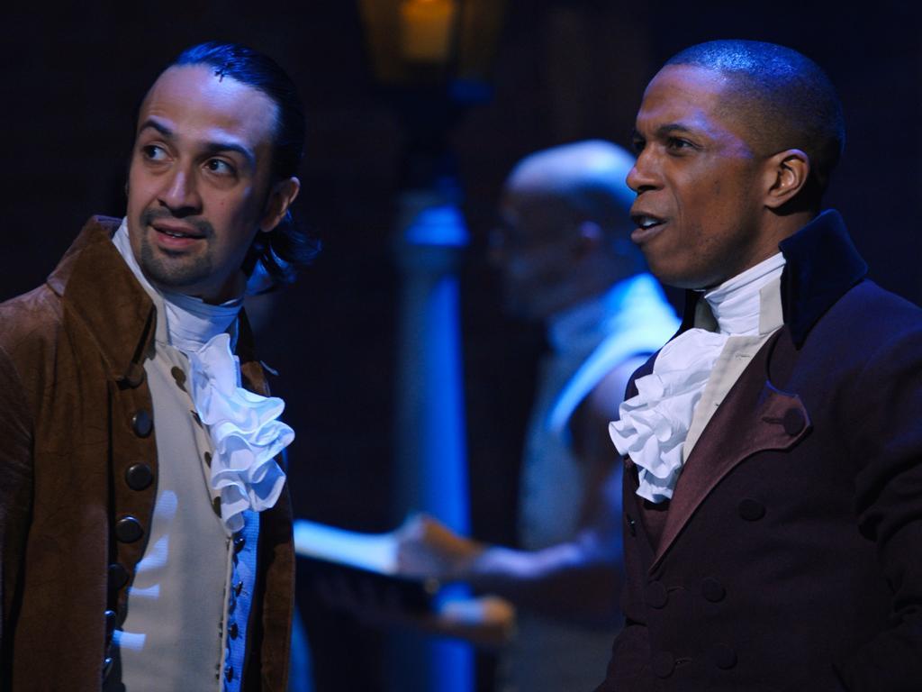 Hamilton stars Lin-Manuel Miranda and Leslie Odum.