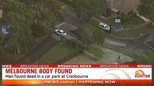Man's body found in carpark at Melbourne primary school (Sunrise)