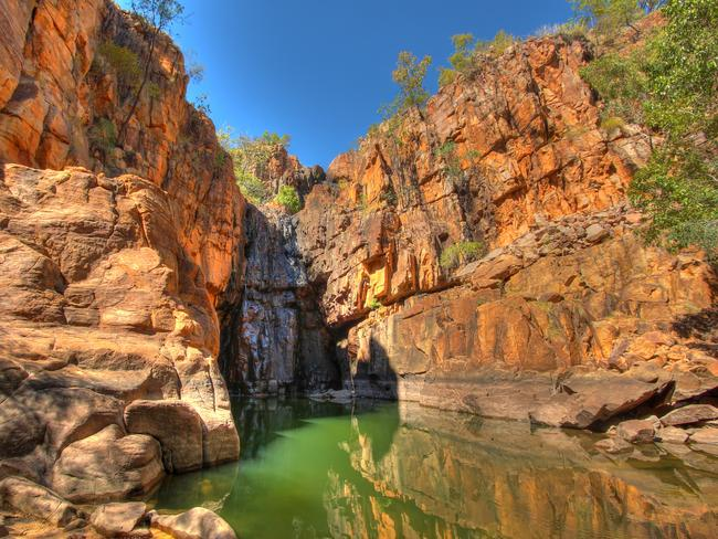 KATHERINE GORGE, NT The harsh terrain of the Northern Territory is home to an oasis. At a cool 23 million years old, the majestic Katherine Gorge encompasses 70m-high sandstone cliffs and 13 gorges complete with thundering falls and rapids. The sheer size of this gorge is a must-see for any traveller visiting the Top End.