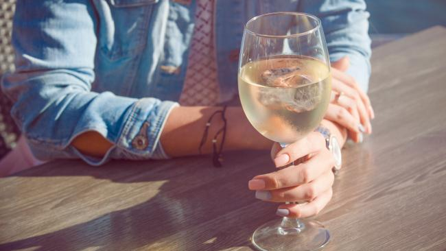 2/7 Never add ice cubes to your wine This is a definite no-no in wine-loving France and will earn you looks of horror from waiters and fellow diners. The one exception to this rule is rosé wine, which can be freely enjoyed with a floating cube of ice in it on hot summer days.