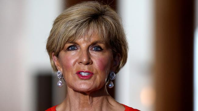 """Foreign Affairs Minister Julie Bishop has conceded some of Australia's fellow UN Human Rights Council members have """"questionable"""" records. Picture: Kym Smith"""