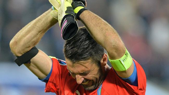 Italy goalkeeper Gianluigi Buffon following their loss to Germany at Euro 2016.