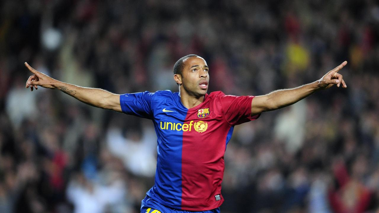 Lionel Messi was starstruck by French legend Thierry Henry.