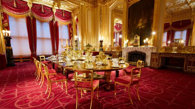 A special display of the Grand Service in the State Dining Room marks the bicentenary of George IV's accession to the throne.Picture: Royal Collection Trust / © Her Majesty Queen Elizabeth II 2020