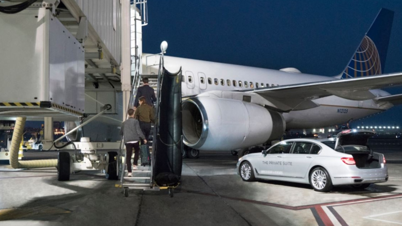 Once you arrive, a 'Private Suite' guest is taken off the aircraft and to a private car on the tarmac.